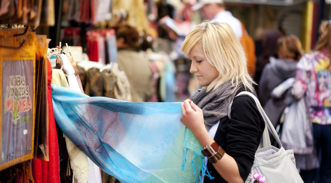 Woman learns about ethical consumerism on a trip abroad.